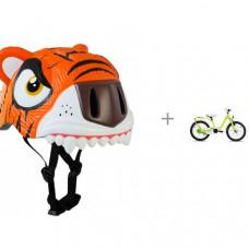Crazy Safety Шлем Tiger 2017 и детский велосипед Scool niXe 16 steel