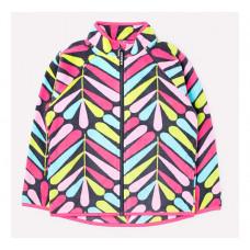 Crockid Куртка для девочки Цветные листики