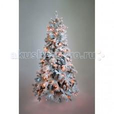 Crystal Trees Искусственная Ель Габи заснеженная с вплетенной гирляндой 180 см