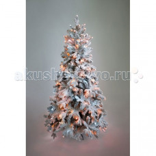 Crystal Trees Искусственная Ель Габи заснеженная с вплетенной гирляндой 210 см