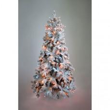 Crystal Trees Искусственная Ель Габи заснеженная с вплетенной гирляндой 240 см
