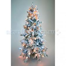 Crystal Trees Искусственная Ель Неаполь заснеженная с вплетенной гирляндой 120 см