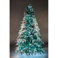 Crystal Trees Искусственная Ель Неаполь заснеженная с вплетенной гирляндой 210 см