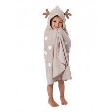 CuddleDry Накидка с капюшоном для малышей Олененок
