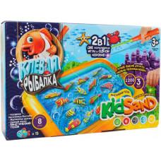 Danko Toys Набор для творчества KidSand 2 в 1 Клевая рыбалка и Кинетический песок