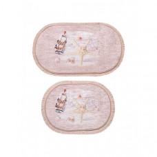 Decovilla Набор ковриков для ванной и туалета 2 шт. ТК-0002a