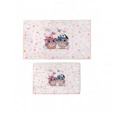 Decovilla Набор ковриков для ванной и туалета ТК-0008