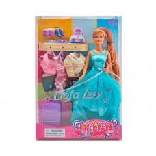 Defa Кукла Defa Люси в вечернем платье с аксессуарами арт.8012