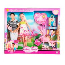 Defa Lucy набор кукол с беременной мамой и аксессуарами