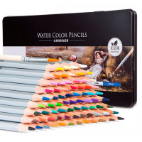 Deli Карандаши цветные акварельные в металлической коробке Nuevo 72 цвета