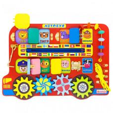 Деревянная игрушка Alatoys Бизиборд Автобус ББ119
