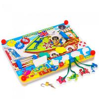 Деревянная игрушка Alatoys Бизиборд Пиратский корабль ББ109