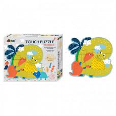 Деревянная игрушка Avenir Пазл для малышей с текстурными вставками Динозавры