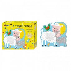 Деревянная игрушка Avenir Пазл для малышей с текстурными вставками Животные фермы