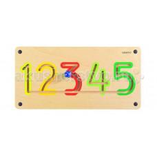 Деревянная игрушка Beleduc Настенный игровой элемент Цифры от 1 до 5