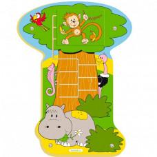 Деревянная игрушка Beleduc Настенный пазл Обезьянка в джунглях