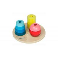 Деревянная игрушка Beleduc Развивающая Три пирамидки