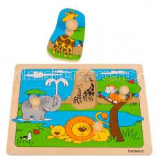 Деревянная игрушка Beleduc Развивающий Пазл Африка 10147