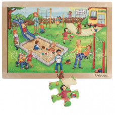 Деревянная игрушка Beleduc Развивающий Пазл Детский сад 12001