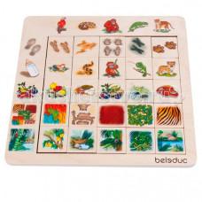 Деревянная игрушка Beleduc Развивающий Пазл Джунгли 11070