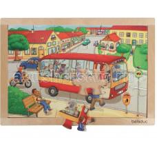 Деревянная игрушка Beleduc Развивающий Пазл Городок 12000