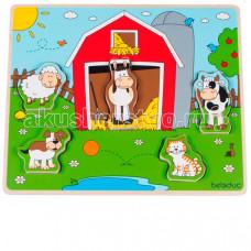 Деревянная игрушка Beleduc Развивающий Пазл Веселые друзья на ферме 11005
