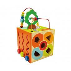 Деревянная игрушка Bino многофункциональный куб 84189