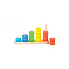 Деревянная игрушка Bino Обучающая пирамидка
