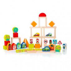 Деревянная игрушка Cubika Город для мальчиков (55 деталей)