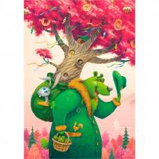 Деревянная игрушка Davici Пазл Зеленый медведь (80 элементов)