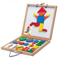 Деревянная игрушка Djeco Магнитная доска Геоформ