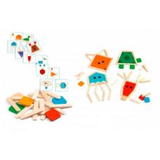Деревянная игрушка Djeco Пазл-палочки