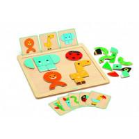Деревянная игрушка Djeco Развивающая игра ГеоБейсик
