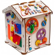 Деревянная игрушка Evotoys Бизиборд домик Знайка Цирк Мини