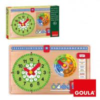 Деревянная игрушка Goula Мой календарь на английском языке