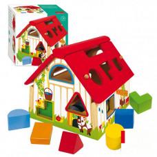 Деревянная игрушка Goula Сортер Домик 55220