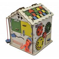 Деревянная игрушка Iwoodplay Развивающий домик