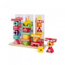Деревянная игрушка Janod Набор пирамидок Тотемы