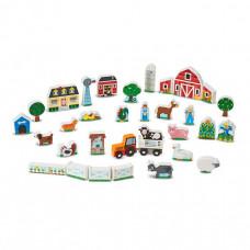 Деревянная игрушка Melissa & Doug Набор Ферма