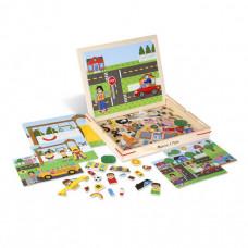 Деревянная игрушка Melissa & Doug Набор магнитов с фоном