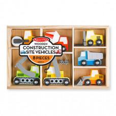 Деревянная игрушка Melissa & Doug Набор строительных машин