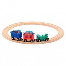 Деревянная игрушка Melissa & Doug Железная дорога набор Животные зоопарк