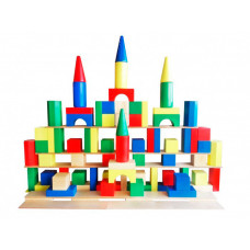 Деревянная игрушка Мишка Кострома Конструктор Гигант напольный (90 деталей)