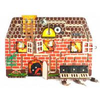 Деревянная игрушка Нескучные Игры Бизиборд № 4 Кошки-мышки