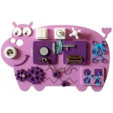 Деревянная игрушка Нумикон Игры Монтессори Бизиборд Бегемотик