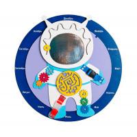 Деревянная игрушка Нумикон Игры Монтессори Бизиборд Космонавт