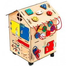 Деревянная игрушка Нумикон Игры Монтессори большой БизиДом со светом