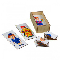 Деревянная игрушка Paremo Игровой набор Составные картинки Спорт