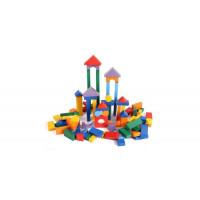 Деревянная игрушка Paremo конструктор 85 деталей окрашенный в пакете