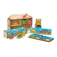 Деревянная игрушка Paremo Сортер Мир динозавров